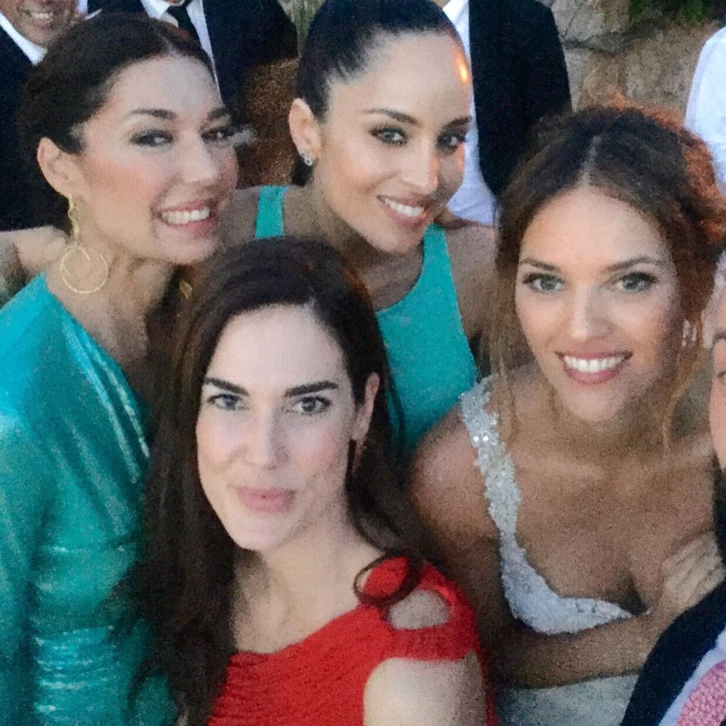 Lorena Van Heerde, Natalia Zabala y yo, con la novia.