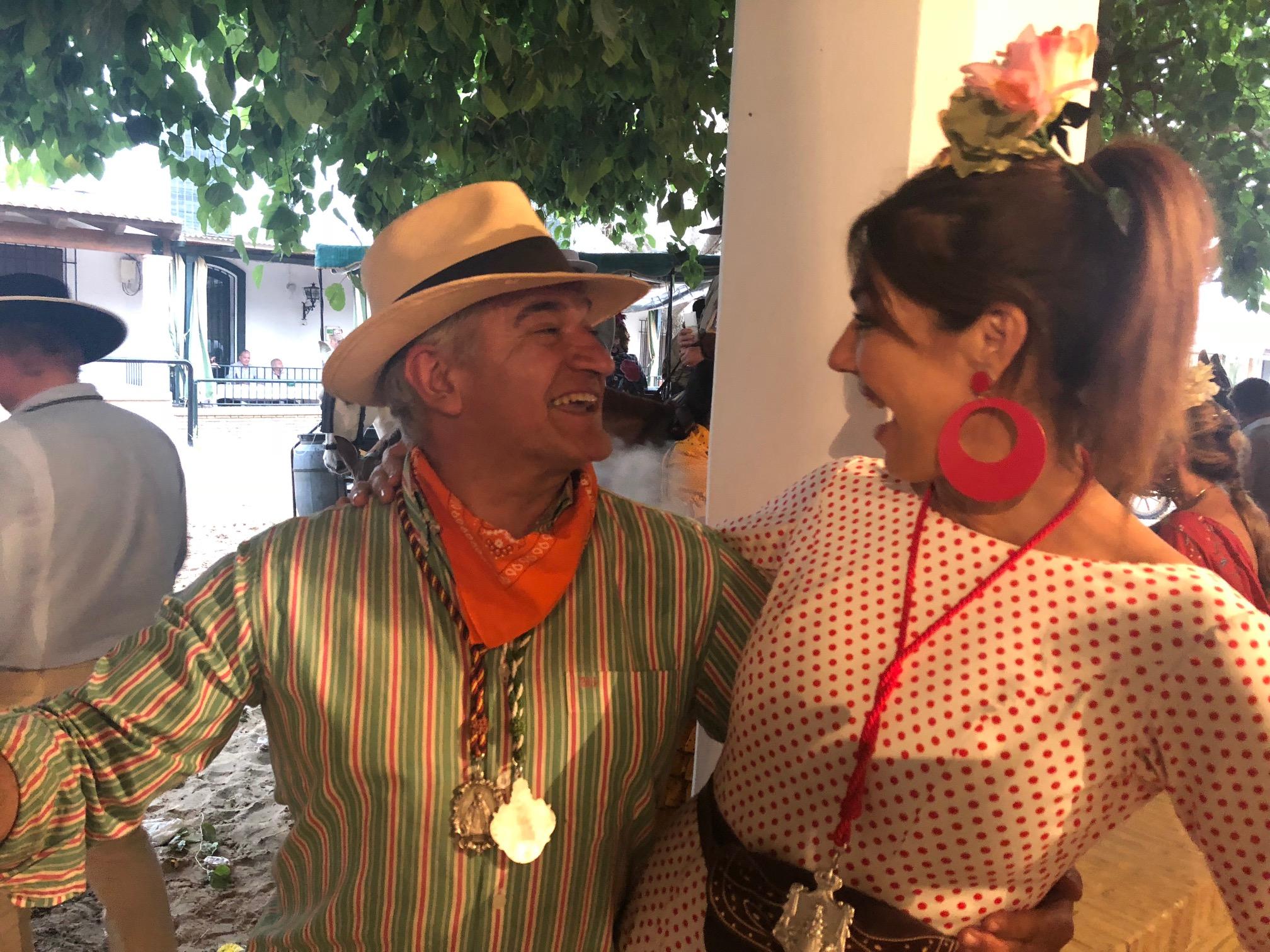 Con Santos Ruiz de Marqués de Cáceres